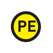 """Наклейка """"PE"""" (d20мм.) EKF PROxima"""