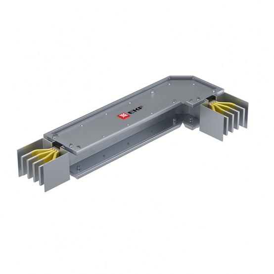 Угловая горизонтальная секция c нестандартным плечом 1250 А IP55 AL 3L+N+PE(ШИНА)