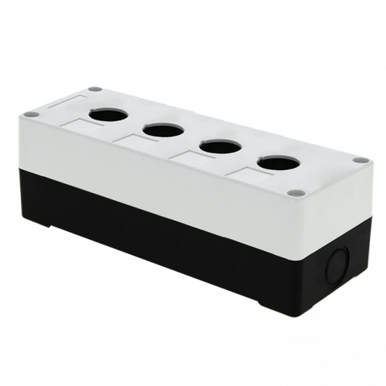 Корпус КП104 пластиковый 4 кнопки белый EKF PROxima