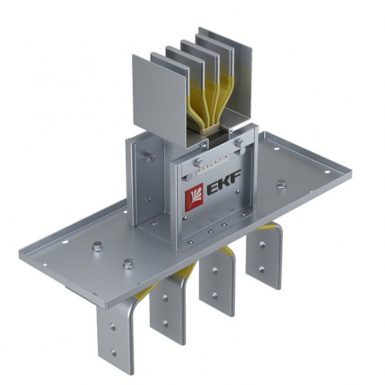 Фланцевая секция для подключения к щиту 1250 А IP55 AL 3L+N+PE(КОРПУС)