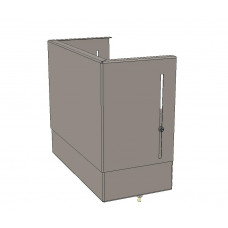 Цоколь верхний с компенсатором (410х300х150) EKF Basic