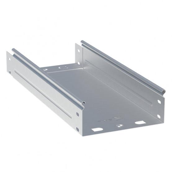 Лоток неперфорированный металлический 80х300х2000-0,8мм (12м) INOX EKF