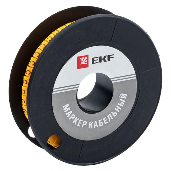 "Маркер кабельный 4,0 мм2 ""C"" (500 шт.) (ЕС-2) EKF PROxima"