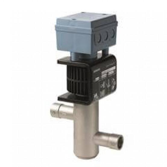 2-ходовой клапан для хладагентов, внутреннее соединение пайкой, DN32, kvs 12, AC / DC 24 В, DC 0/2 ... 10 В / 0/4 ... 20 мА