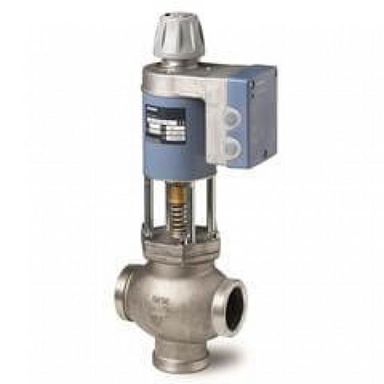 Смесительный/2-ходовой магнитный клапан, внешняя резьба, PN16, DN50, kvs 30, AC / DC 24 В, DC 0/2 ... 10 В / 0/4 ... 20 мА