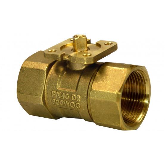 Клапан шаровой 2-ходовой, внутренняя резьба, PN40, DN32, KVS 25