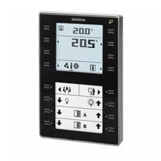 Комнатный датчик температуры с KNX, датчик температуры, дисплей с подсветкой, сенсорные клавиши, чёрный