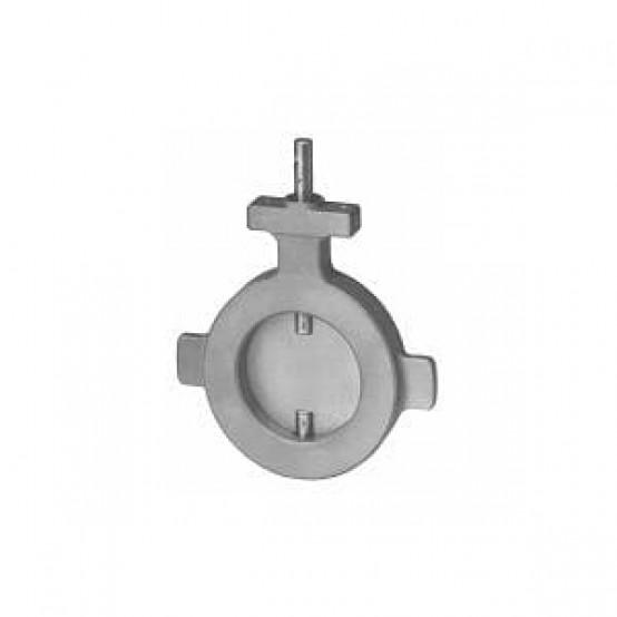 Клапан баттерфляй, DN125, расход 3300 м³ / ч, скорость утечки 0,6%