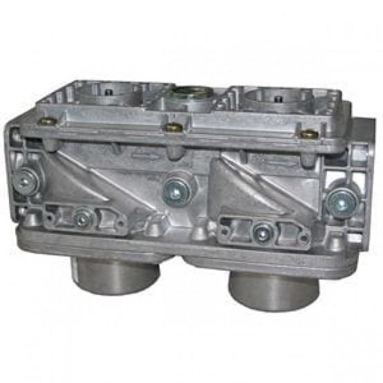 """Двойной газовый клапан, DN2 """", 85 м³ / ч, выбор из 11 различных соединений"""
