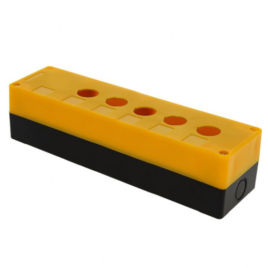 Корпус КП105 пластиковый 5 кнопок желтый EKF PROxima