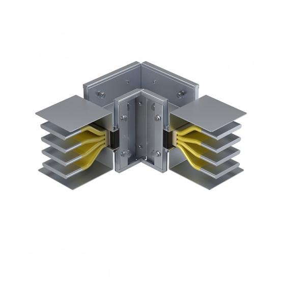 Угловая вертикальная секция 2500 А IP55 AL 3L+N+PE(ШИНА)
