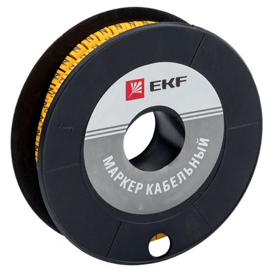 """Маркер кабельный 1,5 мм2 """"N"""" (1000 шт.) (ЕС-0) EKF PROxima"""