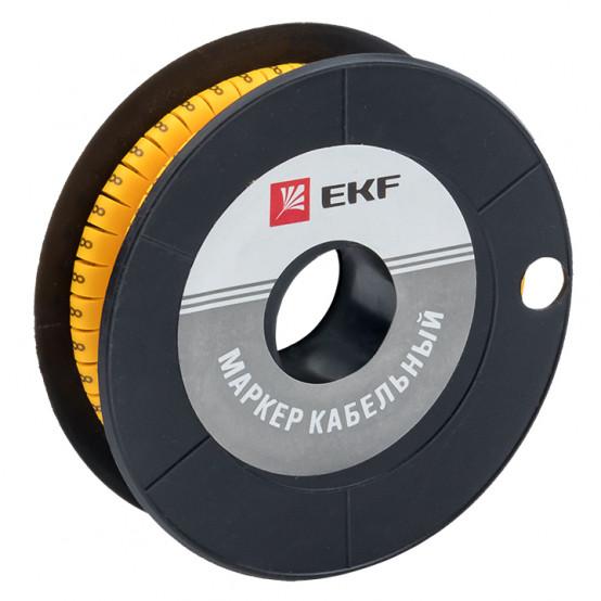 "Маркер кабельный 2,5 мм2 ""8"" (1000 шт.) (ЕС-1) EKF PROxima"