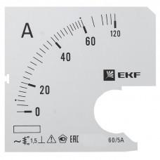 Шкала сменная для A721 60/5А-1,5 EKF PROxima