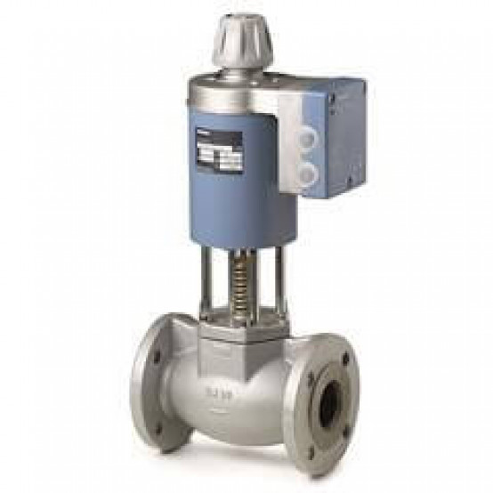 2-ходовой седельный магнитный клапан, фланцевое соединение, PN16 DN25, kvs 8, AC/DC 24 В, DC 0/2...10 В / 0/4...20 мА