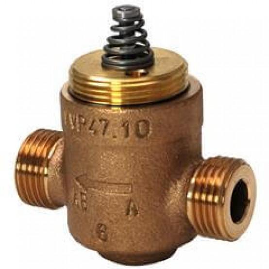Клапан регулирующий, 2-ходовой, фланцевый, седельный KVS 1.6, DN 10, шток 2.5
