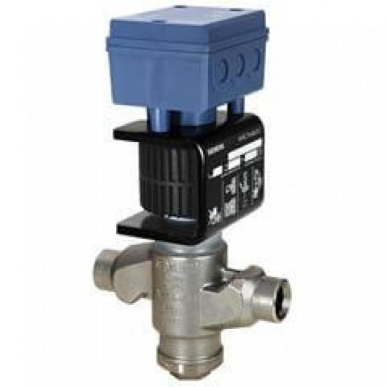 2-ходовой клапан для хладагентов, соединение под пайку, PN 63, DN25, kvs 0.4, AC/DC 24 В, DC 0/2...10 В, 0/4...20 мА