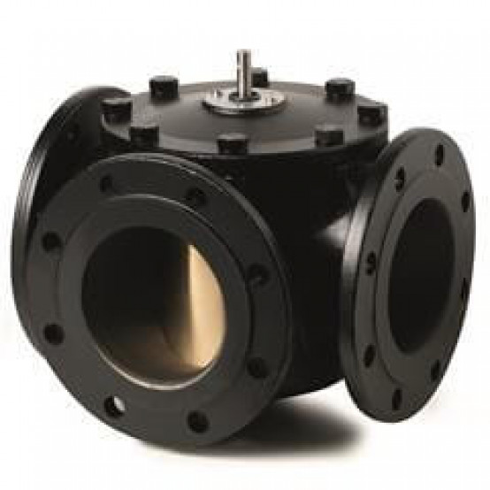 3-ходовые поворотные клапаны, фланцевые, PN6, DN80, kvs 100