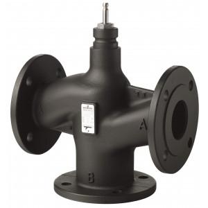 Клапан регулирующий, 3-ходовой седельный, фланцевый, PN16, DN65, KVS 63