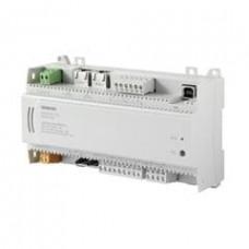 Компактный комнатный контроллер, BACnet/IP, 24 V, корпус DIN, 1 DI, 2 UI, 2 AO, 6 тиристорных выходов, датчик давления, 30 точек данных