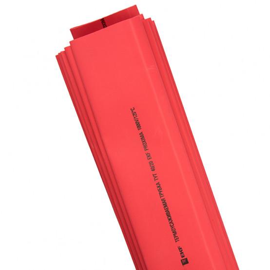 Термоусаживаемая трубка ТУТ нг 25/12,5 красная в отрезках по 1м EKF PROxima