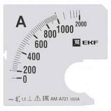 Шкала сменная для A721 1000/5А-1,5 EKF PROxima