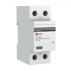 Устройство защиты от импульсных перенапряжений Тип 1 Iimp 25kA (10/350?s) 1P EKF
