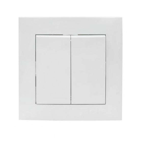 Валенсия выключатель 2-кл. 10А белый EKF PROxima