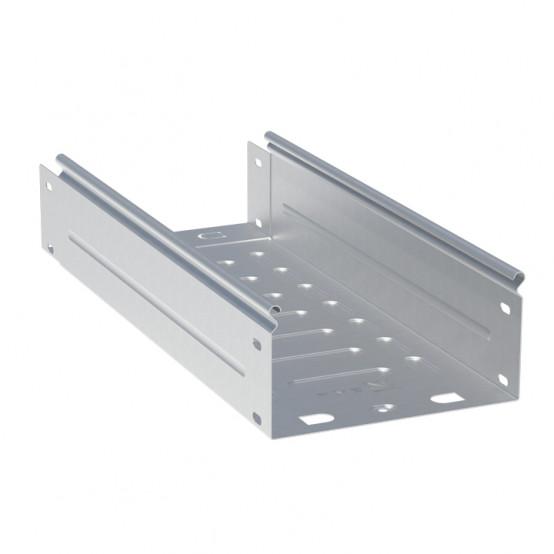 Лоток неперфорированный металлический 100х400х3000-1,0мм (6м) EKF