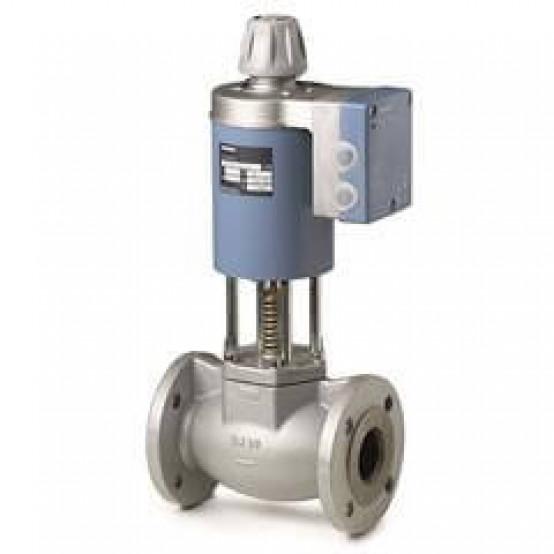 2-ходовой седельный магнитный клапан, фланцевое соединение, PN16 DN32, kvs 12, AC/DC 24 В, DC 0/2...10 В / 0/4...20 мА