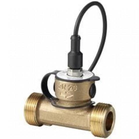 Датчик протока из бронзы для жидкостей в трубопроводах DN 25 , DC Выходной сигнал: 0...10 В