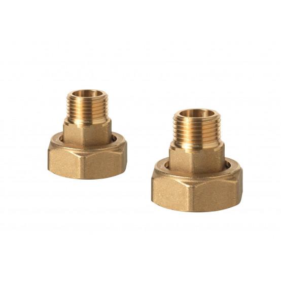 Комплект из пары латунных резьбовых фитингов с внешней резьбой (соответствие ISO 228-1)