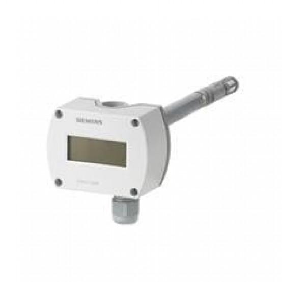 Канальный датчик качества воздуха CO2+температура+отн. влажность с дисплеем