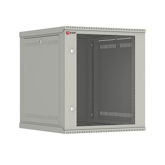 Шкаф телекоммуникационный настенный разборный 12U (600х650) дверь стекло, Astra E серия EKF PROxima