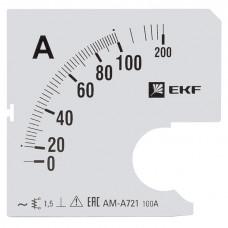 Шкала сменная для A721 100/5А-1,5 EKF PROxima