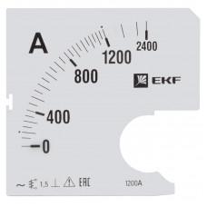 Шкала сменная для A721 1200/5А-1,5 EKF PROxima