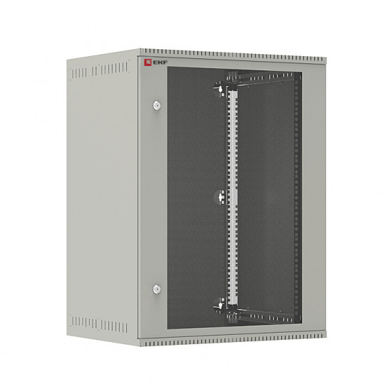 Шкаф телекоммуникационный настенный 15U (600х450) дверь стекло, Astra E серия EKF PROxima