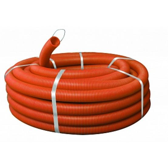 Труба гофр. ПНД Plast с зондом d32мм (50м.) оранжевая EKF PROxima