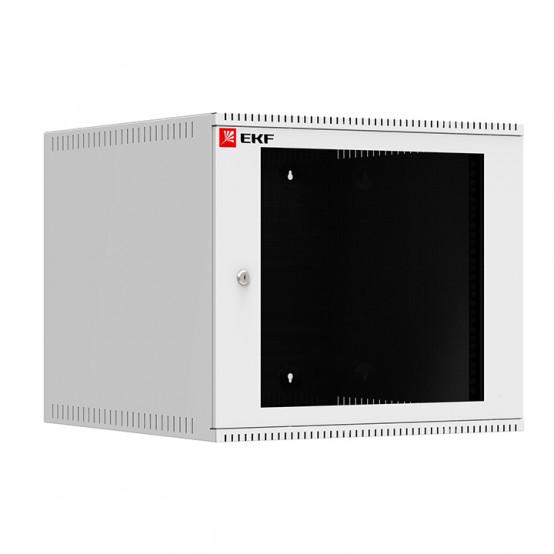 Шкаф телекоммуникационный настенный 9U (600х650) дверь стекло, Astra A серия EKF Basic