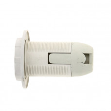 Патрон Е14 пластиковый с кольцом термостойкий пластик бел. EKF PROxima