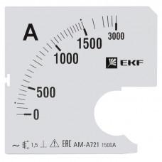 Шкала сменная для A721 1500/5А-1,5 EKF PROxima
