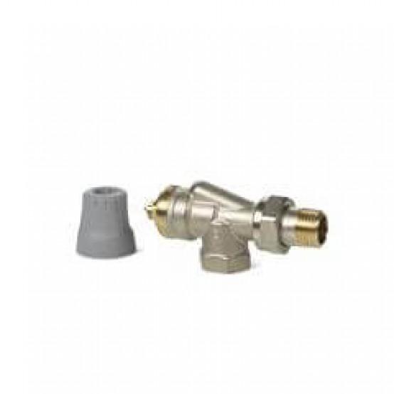 Реверсивные угловые радиаторные клапаны, 2-х трубная система, PN10, DN15, kvs 0.13..0.77