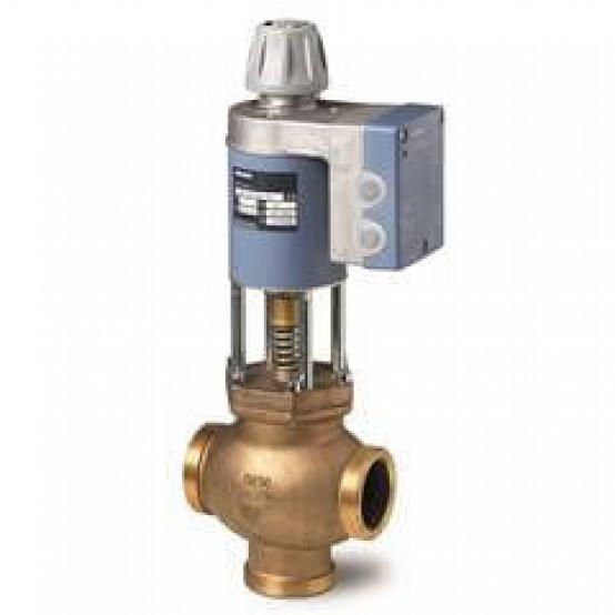 Смесительный / 2-ходовый магнитный регулирующий клапан, внешняя резьба, PN16, DN32, kvs 12, AC / DC 24 В, DC 0/2 ... 10 В / 4 ... 20 мА
