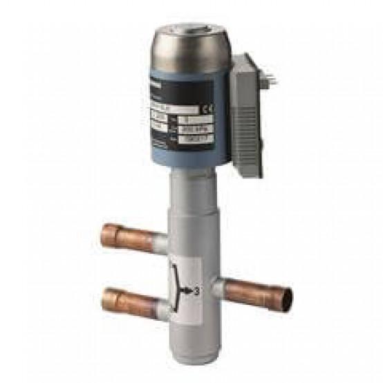 Смесительный / 2-ходовой клапан для хладагентов, соединение пайки, PN32, DN32, kvs 12, AC 24 В, DC 0 ... 10 В / 4 ... 20 мА / 0 ... 20 Phs