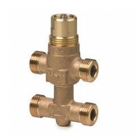 Клапан регулирующий, 3-ходовой седельный с байпассом, внешняя резьба, PN16, DN10, KVS 0.4
