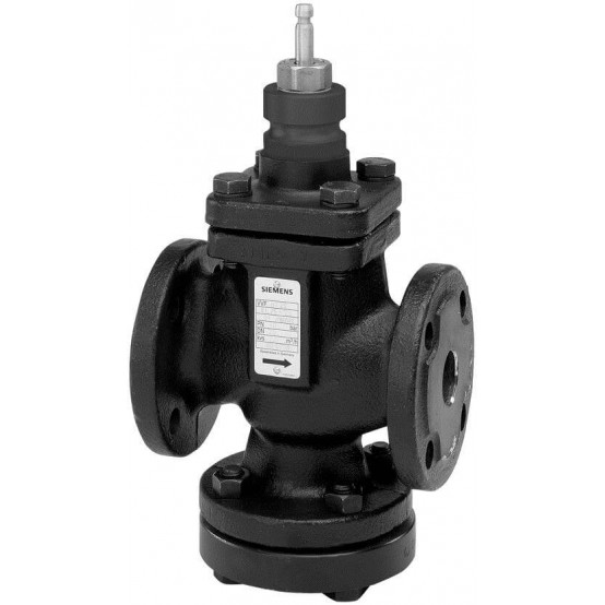 Клапан регулирующий, 2-ходовой, фланцевый, седельный, PN40, DN15, KVS 0.19