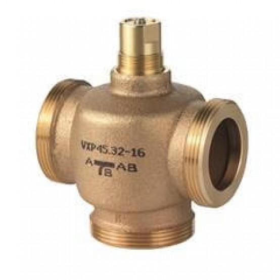 Клапан регулирующий, 3-ходовой седельный, внешняя резьба, PN16, DN25, KVS 6.3