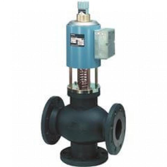 Магнитный смесительный / 2-ходовой регулирующий клапан, фланец, PN16, DN100, kvs 130, AC 24 В, DC 0/2 ... 10 В / 4 ... 20 мА