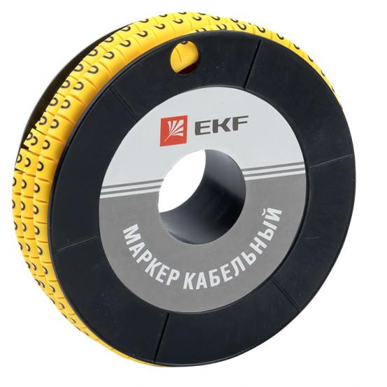 "Маркер кабельный 2,5 мм2 ""0"" (1000 шт.) (ЕС-1) EKF PROxima"