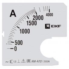 Шкала сменная для A721 2000/5А-1,5 EKF PROxima